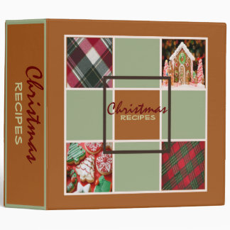 Ginger Christmas Recipes Binder