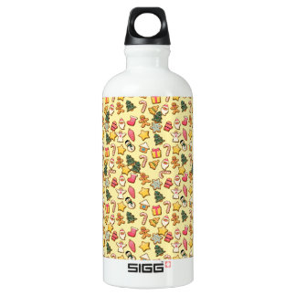 Ginger cookies Christmas pattern Aluminum Water Bottle