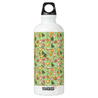 Ginger cookies Christmas pattern Water Bottle