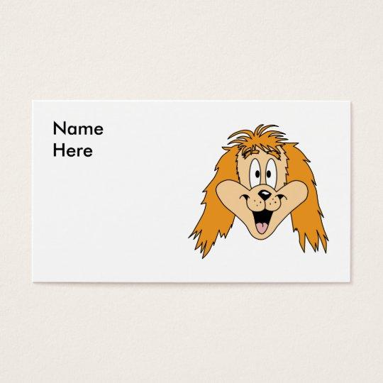 Ginger Dog. Cartoon. Business Card