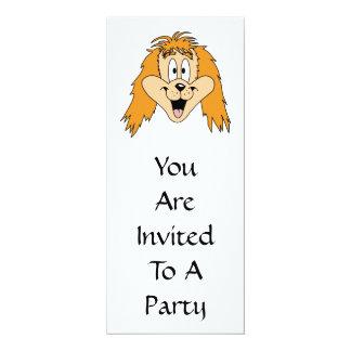 Ginger Dog. Cartoon. Card