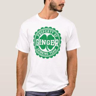 Ginger Drinking Team Bottle Cap Irish T-Shirt