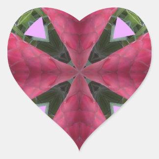 Ginger Flower Blessings! Heart Sticker