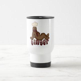 Ginger Gingerbread Man Chef Design Travel Mug
