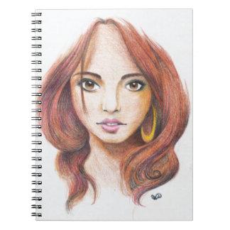 Ginger Girl Notebook