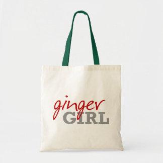 Ginger Girl Redhead Freckles Tote Bag