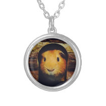 Ginger Guinea Pig Gifts Silver Plated Necklace