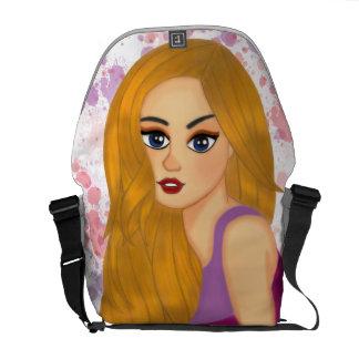 Ginger hair messenger bag
