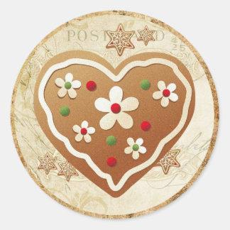 Ginger Heart Classic Round Sticker