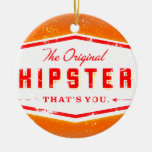 GINGER HIPSTER STYLE Double-Sided CERAMIC ROUND CHRISTMAS ORNAMENT
