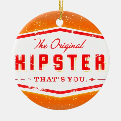 GINGER HIPSTER STYLE CHRISTMAS TREE ORNAMENT