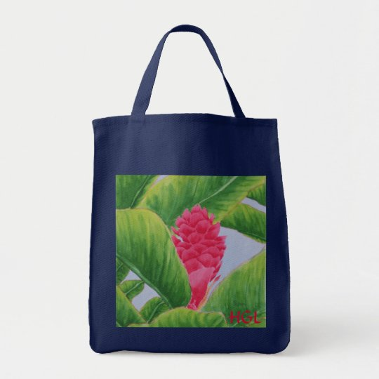 Ginger Initialed Grocery Tote