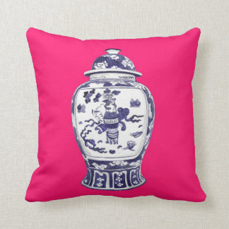 Ginger Jar on Fuschia 2 sided image Pillows