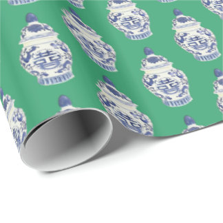 Ginger Jars on Green by Redux121DesignStudio Wrapping Paper