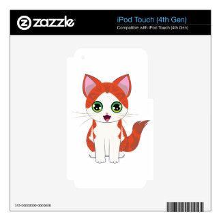 Ginger Kitten Cartoon iPod Touch 4G Decals
