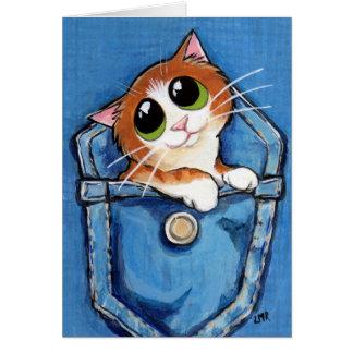 Ginger Kitten in a Pocket Art Card
