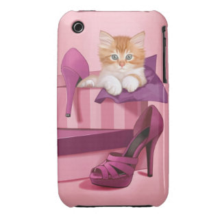Ginger kitten in shoe box iPhone 3 Case-Mate case