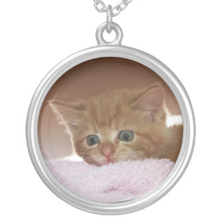Ginger Kitten Silver Plated Necklace