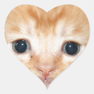 Ginger kitten heart sticker