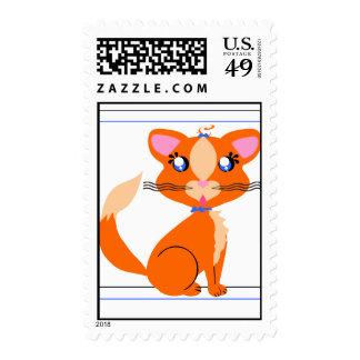 Ginger Kitty Stamp