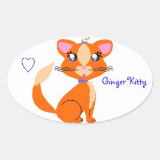 Ginger Kitty Toon Sticker