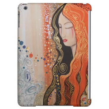 Ginger Lady Beautiful woman in dreamy meditation Case For iPad Air