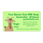 Ginger Lime Goat Milk Soap Labels Design Template