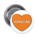 Ginger Love Pinback Buttons