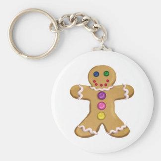 Ginger Man Basic Round Button Keychain