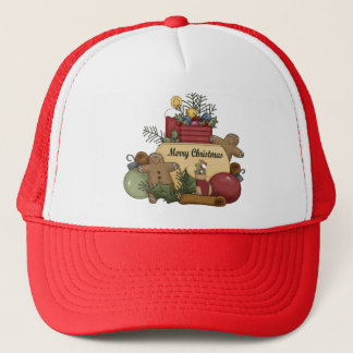 Ginger man Christmas Trucker Hat
