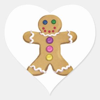 Ginger Man Heart Sticker