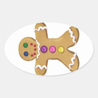 Ginger Man Oval Sticker