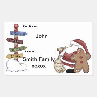 Ginger Man Rectangular Sticker