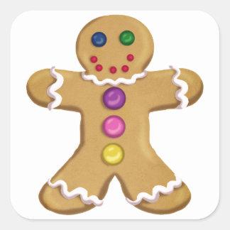 Ginger Man Square Sticker