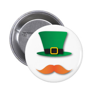 Ginger Mustache Leprechaun Cute St. Patrick's Day Pin