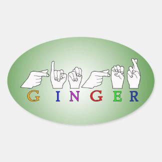 GINGER NAME ASL FINGER SPELLED FEMALE STICKERS