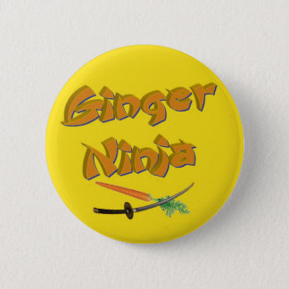 ginger ninja badge pinback button