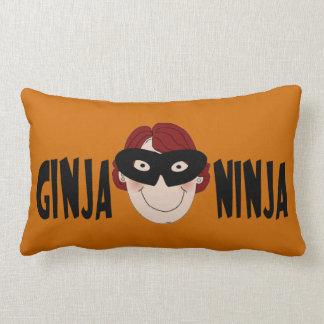 Ginger Ninja Throw Pillow