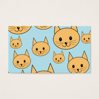 Ginger Orange Cat Design. Business Card