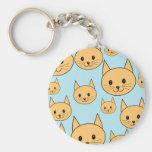 Ginger Orange Cat Design. Keychain