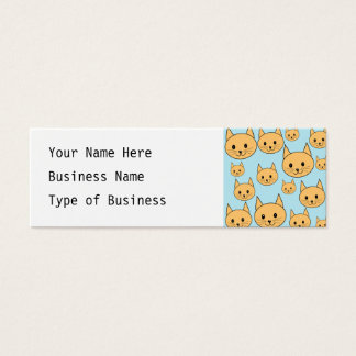 Ginger Orange Cat Design. Mini Business Card