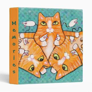 Ginger Orange Tabby Cats Photo Binder