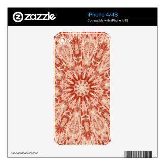 Ginger Peach Doily Kaleidoscope iPhone 4S Decals
