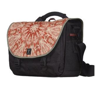 Ginger Peach Doily Kaleidoscope Laptop Computer Bag