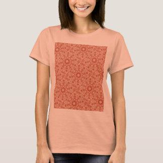Ginger Peach Doily Kaleidoscope T-Shirt