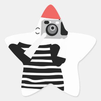 Ginger photographer star sticker