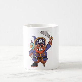 Ginger pirate with Parrot Classic White Coffee Mug