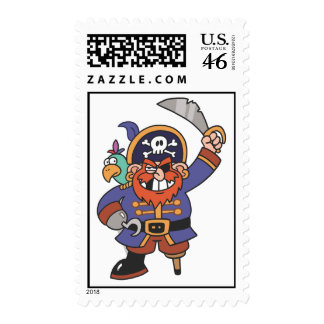 Ginger pirate with Parrot Stamp