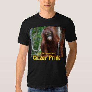 Ginger Pride Orangutan Wildlife Style Tshirts