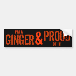 Ginger & Proud of It Car Bumper Sticker